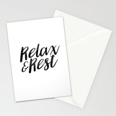 RELAX AND REST Stationery Cards