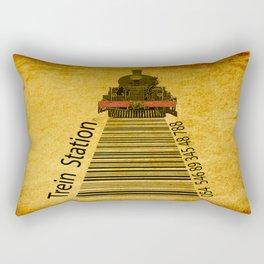trein in station  Rectangular Pillow