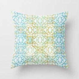 Batik Scroll Throw Pillow