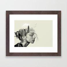 New York City reflection Framed Art Print