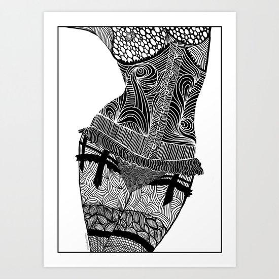 La femme 01 Art Print