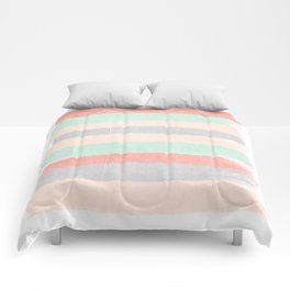 Stripes hand painted abstract minimal nursery decor gender neutral palette Comforters