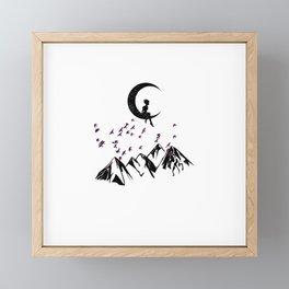 Free as a bird Framed Mini Art Print
