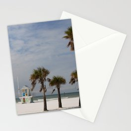 Clearwater Beach In Wintertime Stationery Cards