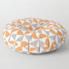 Orange and Gray Retro Minimalist Geometric Pattern Floor Pillow