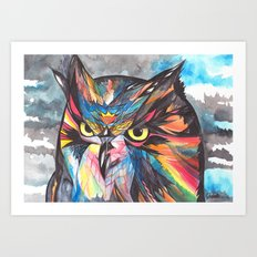 Whimsical Owl  Art Print