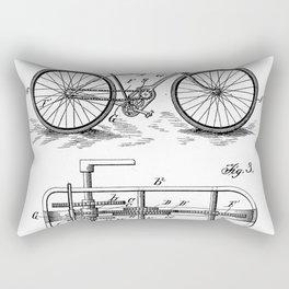 Bike Patent - Bicycle Art - Black And White Rectangular Pillow