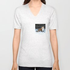 One Fox Unisex V-Neck