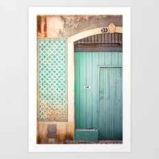 The mint door Art Print