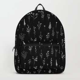Black wildflowers Backpack
