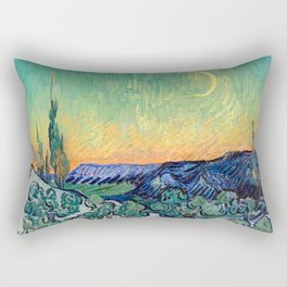 Couple Walking among Olive Trees, Vincent Van Gogh Rectangular Pillow