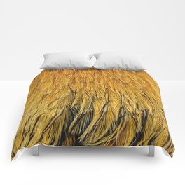 Fancy Rooster Feathers Comforters