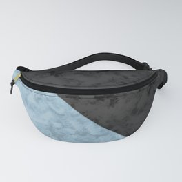 Black , blue marble Fanny Pack