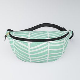 Herringbone – Mint & White Palette Fanny Pack