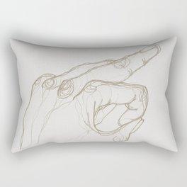 Angry Hands - Gold Rectangular Pillow
