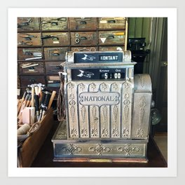 Antique Cash Register in Oslo Art Print