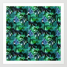Welcome to the Jungle Palm electric green Art Print