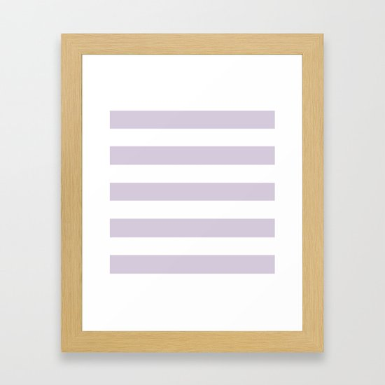 Languid lavender - solid color - white stripes pattern by makeitcolorful