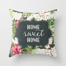 Tropical Home Throw Pillow