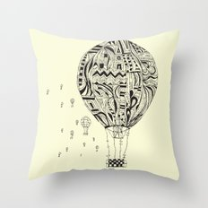 balloon trip Throw Pillow