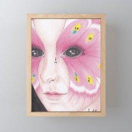 Butterfly Girl #1 Framed Mini Art Print