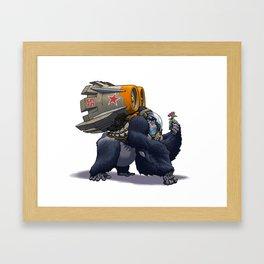 Jetpack Gorilla Framed Art Print