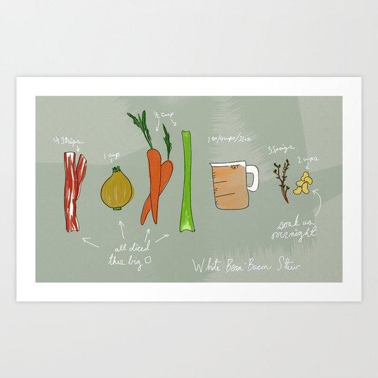 White Bean Bacon Stew Art Print