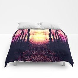 Path to Imagination : Mauve Pink Purple Comforters