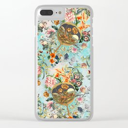Floral and Lobster Clear iPhone Case