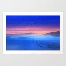 Blue is the colour Art Print