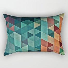 Teal/Orange Triangles Rectangular Pillow