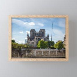 Notre Dame de Paris after the fire Framed Mini Art Print
