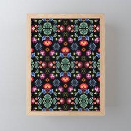 Fiesta Folk Black #society6 #folk Framed Mini Art Print