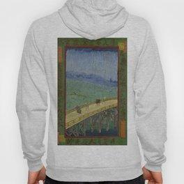 Vincent Van Gogh - Japanese - The Bridge in the Rain Hoody