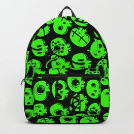 Just green skulls Backpack