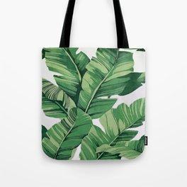 Tropical banana leaves VI Tote Bag