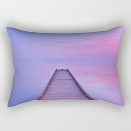 Jetty on a still lake at dawn in The Netherlands Rectangular Pillow