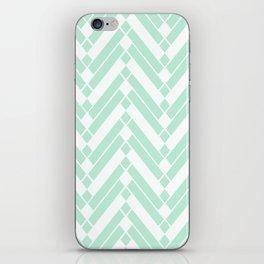 Chevron Herringbone ZigZag pattern - light mint green #Society6 iPhone Skin