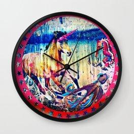 Unicorn And The Sea Wall Clock