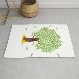 """Cute and inspiring best for luck """"Money Growing"""" tee design. Makes an awesome gift to your friends!  Rug"""