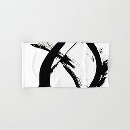 Brushstroke [7]: a minimal, abstract piece in black and white Hand & Bath Towel