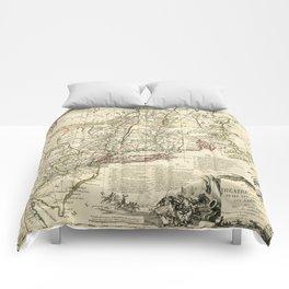 American Revolutionary War Map (1782) Comforters