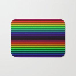 Spectrum - Rainbow Stripes - Colorful - Manafold Art Bath Mat