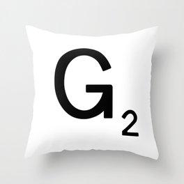 Letter F - Custom Scrabble Tile Letter Art - Scrabble F Throw Pillow