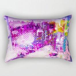 Retro Comic City Rectangular Pillow