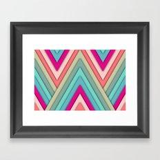 triangles pop Framed Art Print