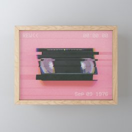 Video tape#VHS#REW<<#effect Framed Mini Art Print