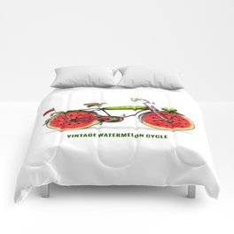 ORGANIC INVENTIONS SERIES: Vintage Watermelon Bicycle Comforters
