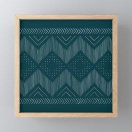 Teal Tribal Framed Mini Art Print