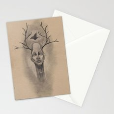 Graphite Antler Drawing Stationery Cards